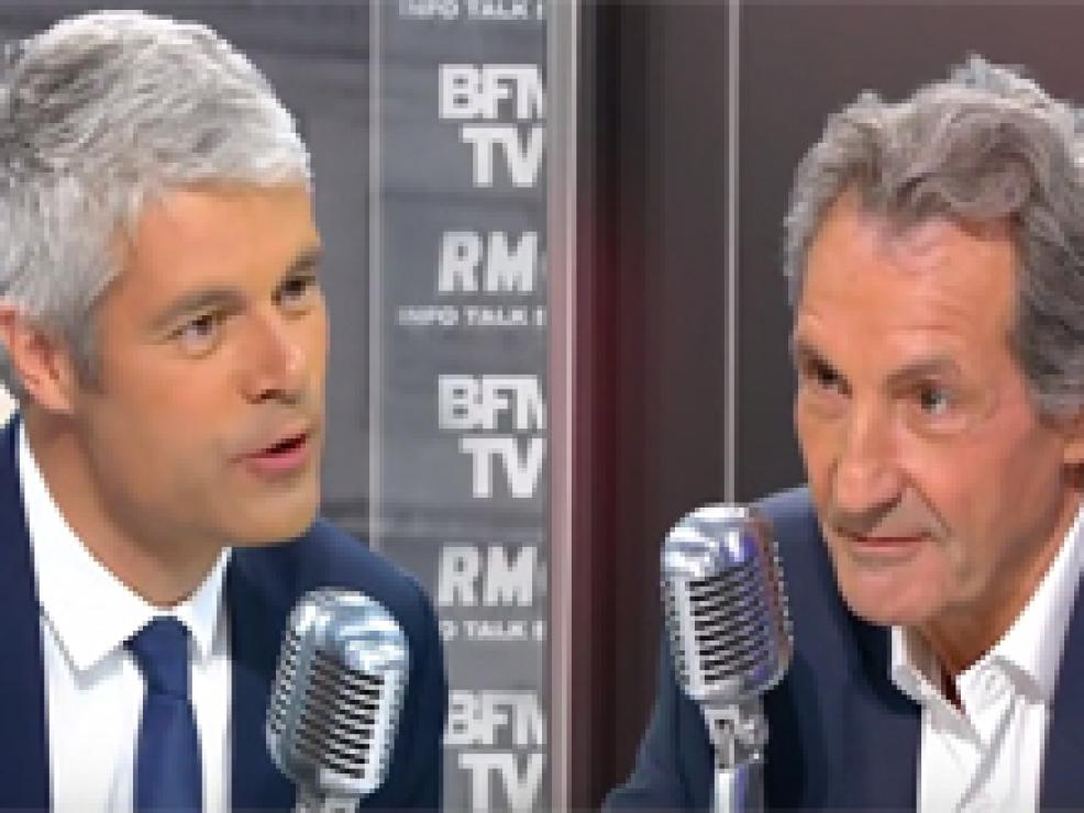 Laurent Wauquiez face à Jean-Jacques Bourdin