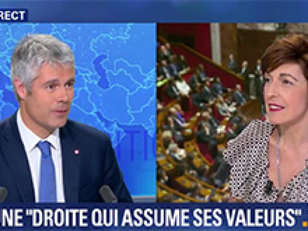 Laurent Wauquiez face à Ruth Elkrief